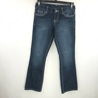 Maurices Womens Dark Wash Stretch Straight Jeans Size 1/2 Short