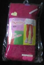 ANGELINA FOOTLESS TIGHTS RED WITH HEARTS SIZE L 7-10 YRS VALENTINE