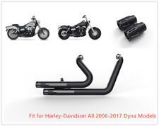 Dual Pipes Muffler Exhaust B1 Fit for Harley 2012-2017 Dyna Wide Glide FXDWG