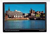 Postcard: The Castle and Ness Bridge, Inverness, Scotland