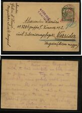 Bosnia  Herzegovina  postal  card   nice markings  1917  to Hungary       MS1121