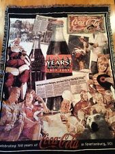 Spartanburg SC 2003 Coca-Cola Santa Bottling Company Promo Ad Throw Blanket RARE