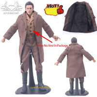 """1:6 WWII Common People Civilians Brown Wool Greatcoat Suit for 12"""" Action Figure"""