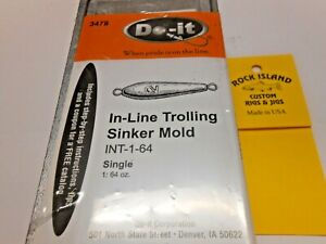 3478 DO-IT TROLLING SINKER MOLD 64 oz   I REFUND EXCESS SHIPPING
