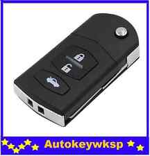 3 BUTTON Flip Key Remote Case Shell replacement for MAZDA 3 5 6 RX7 RX8 key