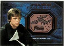 2016 Star Wars Masterworks Medallion Bronze Luke Skywalker Battle Of Endor
