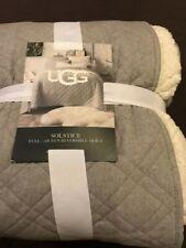 UGG Solstice full/queen reversible quilt grey