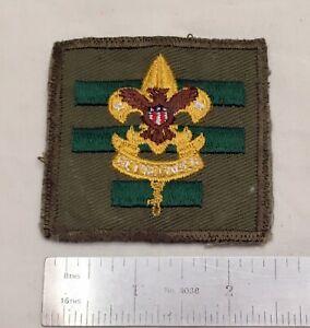 1960's-70's Square Assistant Senior Patrol Leader Position Emblem Patch Used