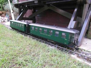 G scale (45mm) garden railway coaches