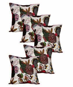 16 X16 INCH SET OF 5 SQUARE FRUIT PRINT COTTON PILLOW CASES SOFA CUSHION COVER