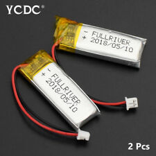 501230 3.7V 130mAh Li-ion Battery Replacement For GPS MP3 Voice Recorder 2Pcs A