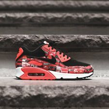 Nike Air Max 90 Print - 'We Love Nike' Black/Bright Crimson/White UK10.5