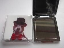 SALE - Dog Handbag Mirror  - Dapper Dogs 2