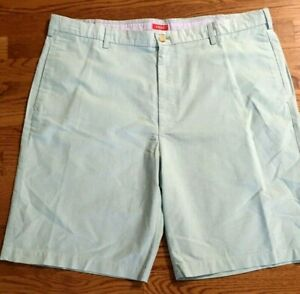 IZOD Men's Saltwater Wash Stretch Shorts Flat Front Relaxed Fit -  SIZE 40