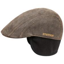 STETSON Vintage Flatcap Gorra Gorro Madison 6 Braun Funda Polar Orejeras