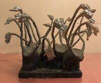 RARE Vintage Antique Holocaust Sculpture By CRAIG Signed