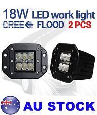 2pcs Cree 18W Flood beam LED Work Light Flush Mount Driving Car Truck AU STOCK