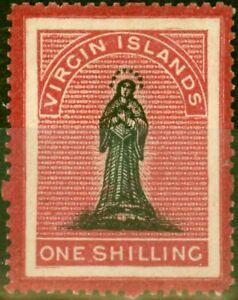 Virgin Islands 1867 1s Black & Rose-Carmine SG14b Good Unused