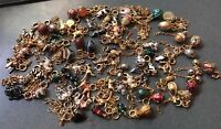 Vintage Joan Rivers Classic 74 Assorted Egg & Animal Charm Necklace w/ Extenders