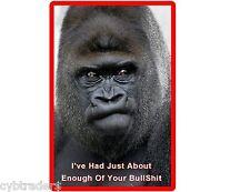 Funny Mad Ape Gorilla Refrigerator / Tool Box / Filing Cabinet Magnet
