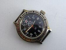 "Military VOSTOK ""Tankist"" Komandirskie Automatic Watch date Soviet Russia USSR"