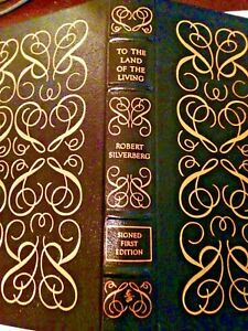 Robert Silverberg SIGNED To The Land of the Living, 1st 1990 HC sci-fi leather