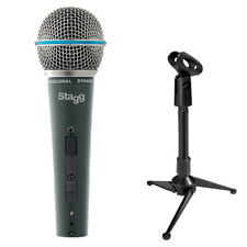 Stagg SDM60 Dynamic Microphone with XLR Cable and Mini Tripod Stand