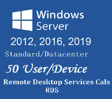 Remote Desktop Service CALs | Win Server 2012, 2016, 2019 STD Data