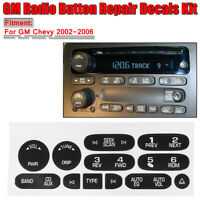 GM Radio Button Replacement Repair Decal Sticker Kit Dash For 2002-2006 GM  AL!
