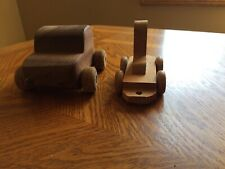 Lot of 2 Vintage Handmade Wooden Toys
