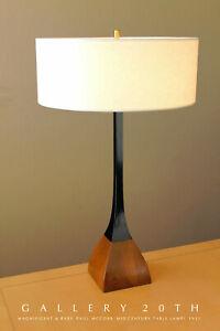 WOW! RARE! MID CENTURY DANISH MODERN PAUL MCCOBB LAMP! 1951 VTG BIRCH & METAL