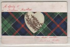 POSTCARD USED SCOTLAND WITH REAL HEATHER 1907 7E16