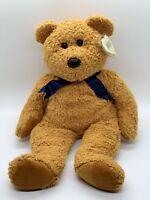 """TY Beanie Buddies Fuzz Plush Bear Brown Stuffed Animal 1999 Soft Floppy Toy 13"""""""