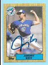1987 Topps #29 Jimmy Key Blue Jays Autograph