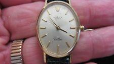 ROLEX Cellini Ref # 4110~Lady's 18K Yellow Gold Oval Wristwatch~1981~Estate