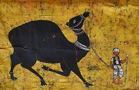 DROMADAIRE INDIEN TENTURE VRAI BATIK FAIT MAIN HIPPIE BOHO RAJASTHAN INDE