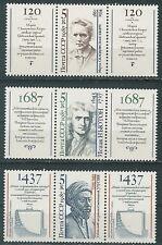 USSR Famous people  (Mi. 5757-59) + 2 lab