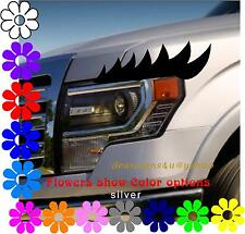 individual Eyelashes set ANY car headlight truck van golf cart light flat round
