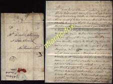 1770 WALTHAM ABBEY letter from J.Marshall to Thomas Adams, Alnwick