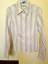 ♥ ESPRIT Long Sleeves White Stripes Shirt S
