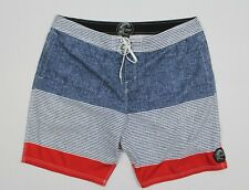 """O'Neill 40 Men's 21"""" Jacques Boardshorts 4-way epic stretch 13106600 Blue/Red"""