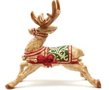 Fitz & Floyd Brown Ceramic Reindeer Candle Holder