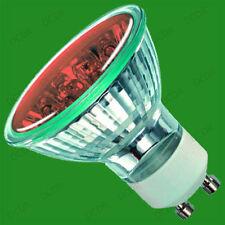 6x 2W+ 18 LED GU10 Farbig Spot Glühbirnen, Blau, Gelb & Orange, Down Lampe