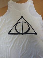 Harry Potter Deathly Hallows Triangle Print Tank Top Summer Vest Singlet