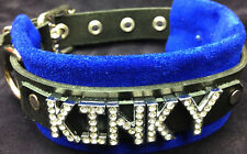 Kinky Leather collar crystals