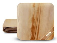 More details for foogo green disposable palm leaf plates ecofriendly wooden plates picnic camping