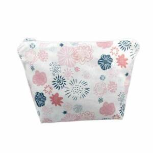 Unique Handmade Pink/Blue Pretty Floral Cosmetic Bag Limited Edition-UCB61