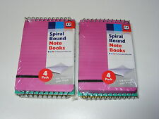 8 SPIRALE PROMEMORIA/TACCUINI CON PLASTICA COVER 30 foderate Fogli di carta