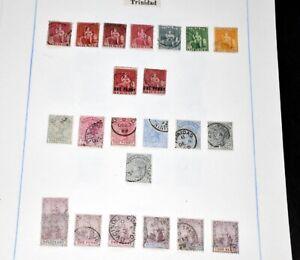 TRINIDAD & TOBAGO Gute Sammlung ab der Britannia Ausgabe Hoher Michel Wert