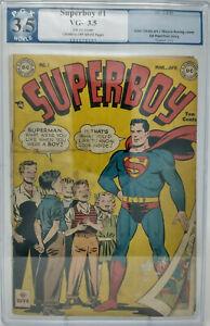 Superboy #1 ~ DC 1949 ~ PGX 3.5 ~ Superman Cover & Appearance